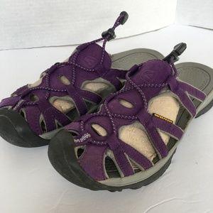 KEEN Sandals 8 1/2 Slip On Toggle Slids Purple